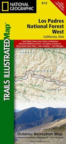 Read Online Los Padres National Forest West (National Geographic Trails Illustrated Map) pdf