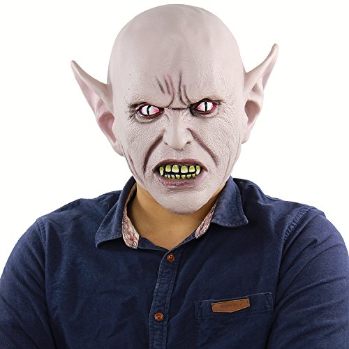 Deluxe Novelty Halloween Party Latex Head Mask Aliens Mask Predator Costume Flesh Alien Overhead Masks (Predator Deluxe Head)