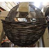 "Garden Wall Basket Apollo Willow Wall Basket 16"" Natural Basket Dark Willow"