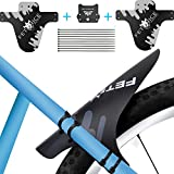 "Smiterl Mountain Bike Fender Kit,Mountain Bike Mud Guards, Adjustable Front Rear Compatible Bicycle Tire MTB Mud Guard Fender with 10 Cable Ties, Fit for 26""27.5""29"" MTB Cycling"