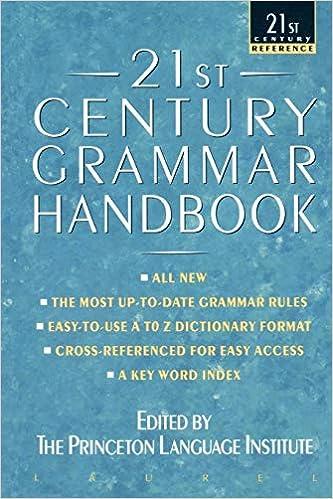 Amazon Fr 21st Century Grammar Handbook Princeton
