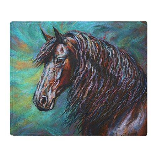 CafePress Zelvius The Friesian Horse Soft Fleece Throw Blanket, 50