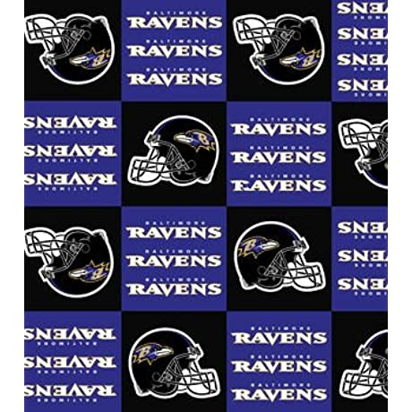 Baltimore Ravens Patch Fleece Blanket And Pillowcase Crib Set 2