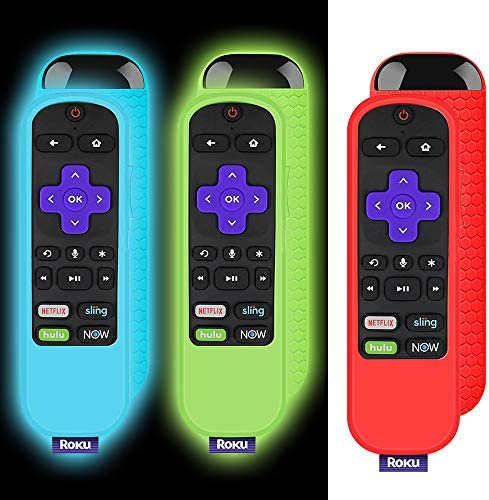 3 Pack Protective Remote Case for TCL Roku TV Steaming Stick 3600R Remote, Silicone Remote Controller Cover Shockproof Remote Cover Skin Universal Replacement Sleeve Anti Slip TCL Roku TV Remote Cover