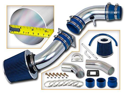 Velocity Racing Blue Short Ram Air Intake Kit + Filter for Ford 1990-1997 Thunderbird 3.8L V6 NA