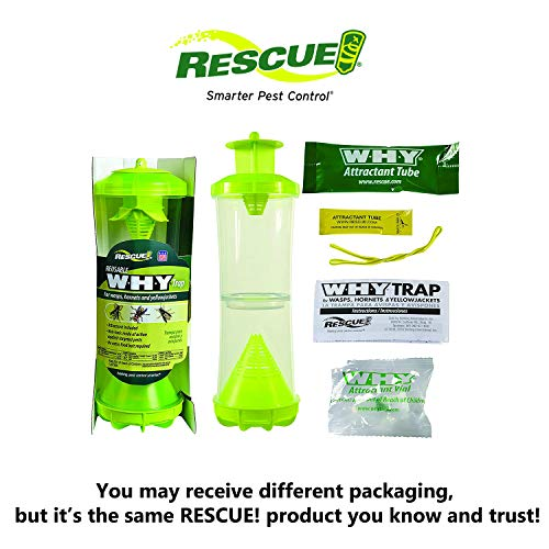 RESCUE! WHY Trap for Wasps, Hornets, & Yellowjackets – Hanging Outdoor Trap