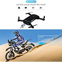 Celendi Mini 2.4G 6-Axis HD Camera Drone WIFI FPV RC Quadcopter Drone Selfie Foldable and Portable (Black)