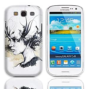LHY Sketch Design Hard Case with 3-Pack Screen Protectors for Samsung Galaxy S3 I9300