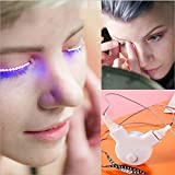 tweezers in spanish PINGGE US - LED Eyelashes Waterproof LED Light Unisex Flashes Luminous Shining Charming Eyelid Tape Eyeliner Perfect for Party Bar Nightclub Rave Halloween Christmas and Birthday (White)