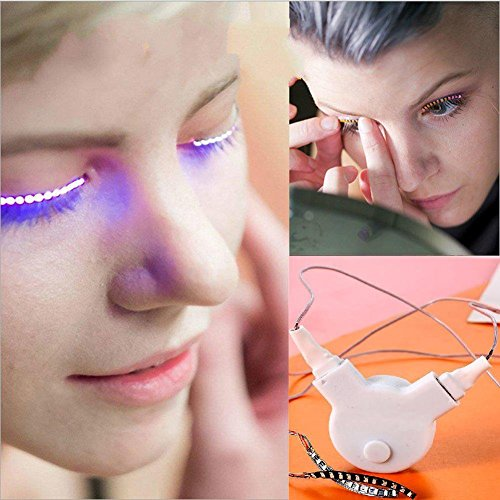 Homemade Drag Queen Costumes (PINGGE US - LED Eyelashes Waterproof LED Light Unisex Flashes Luminous Shining Charming Eyelid Tape Eyeliner Perfect for Party Bar Nightclub Rave Halloween Christmas and Birthday (Pink))