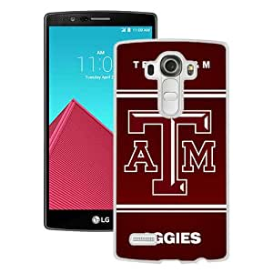 Popular LG G4 Case ,Beautiful And Unique Designed With Southeastern Conference SEC Football Texas A&M Aggies 04 White LG G4 Cover