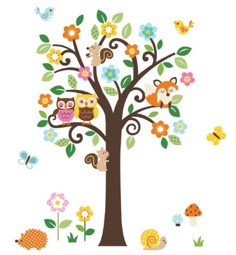 - Charming Woodland Giant Peel & Stick Wall Art Sticker Decals