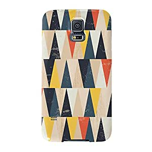 Fuerte Grunge Patrón Geométrico Con muchos triángulos Full Wrap Case, Carcasa de fijación para Samsung Galaxy S5Impreso en 3d de alta calidad de UltraCases
