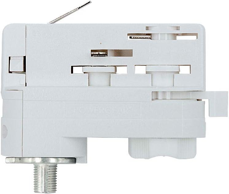 mit Haken elektrisch silbergrau Adapter f/ür 1-Phasen HV-Stromschiene