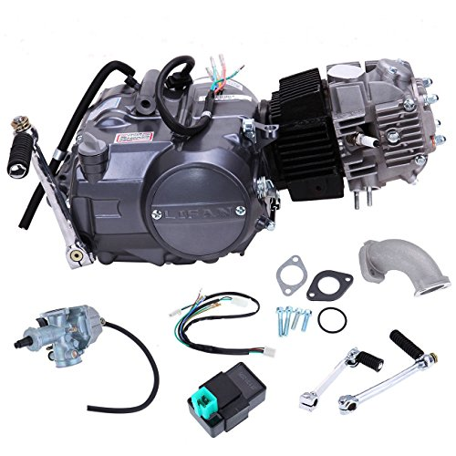 Single Cylinder Four Stroke (PanelTech 125cc Engine 4 Stroke Engine Single Cylinder Air Cooled Engine Motor For Honda CRF 50 70 XR50 70 Z50 Z50R Long Case)