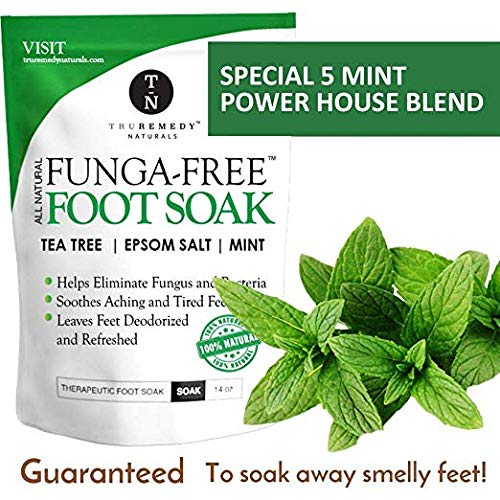 Tea Tree Oil Foot Soak With Epsom Salt, Antifungal Foot Soak Helps Away Toenail Fungus, Athletes Foot & Stubborn Foot Odor - Softens Calluses & Soothes Sore Tired Feet, 14 Ounce by Truremedy Naturals (Image #3)