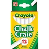 Crayola 12 Swan White Chalk, School and Craft Supplies, Teacher Supplies, Gift for Boys and Girls, Kids, Ages 3,4, 5, 6 and Up, Arts and Crafts