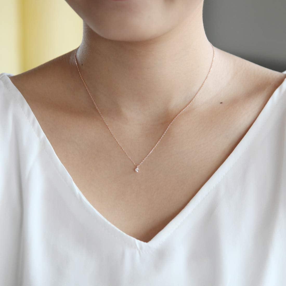 4℃(ヨンドシー) 0.075ctダイヤモンド K10ピンクゴールド(PG) ネックレス 111016123102