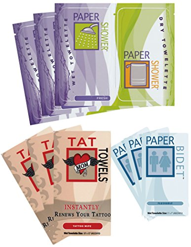 Festival Wipe Kit - Paper Shower-Fresh, Paper Bidet and Tat