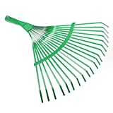 Yunhigh Garden Leaf Rake, Metal Leaf Rake Head for Lawn Garden Heavy Duty Shrub Fan Rake Garden Tool - Green