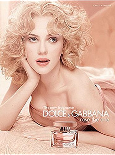 PRINT AD With Scarlett Johansson For 2010 Dolce & Gabbana Rose The One FragrancePRINT - Ad Dolce Gabbana