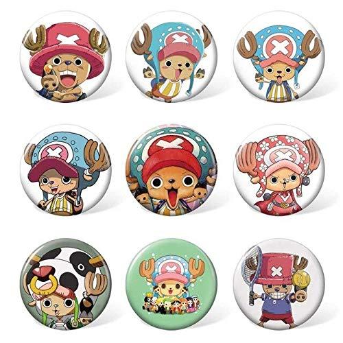 Scallion 9 Pcs/Lot Anime Brooch Toys Badge