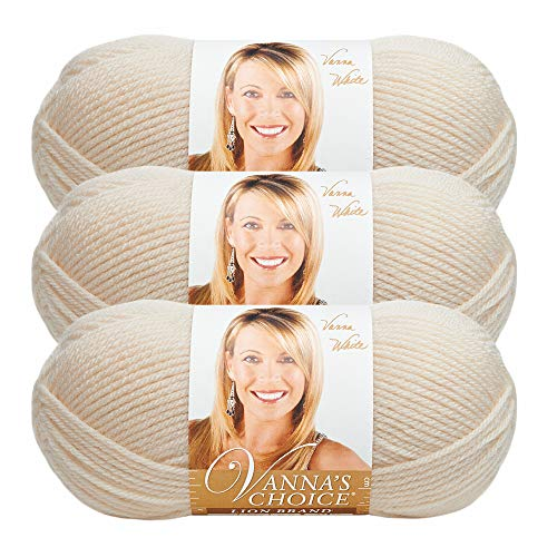 (3 Pack) Lion Brand Yarn 860-098X Vanna's Choice Yarn, Fisherman (Vannas Choice Baby Yarn)