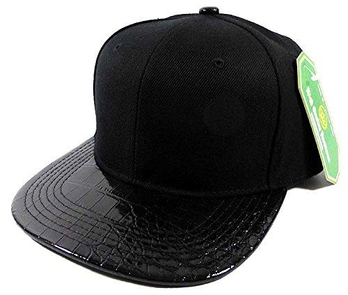 Alligator Blank Snapback Hats Caps Fashion - Black   Black - Buy Kangol