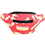 Hot Dogs Fanny Pack, Boho Chic Handmade w/Hidden Pocket (You Dirty Dog)