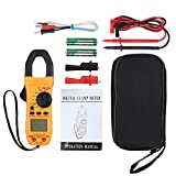 Proxima Direct Clamp Meter Auto-Ranging TRMS Multimeter 6000 Counts Non-contact AC Voltage Dete with NCV AC/DC Voltage Current Continuity Capacitance Resistance Frequency Diode Temperature Hz