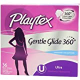 Playtex Gentle Glide Tampons with Triple Layer Protection, Ultra , Unscented - 36 Count