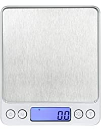 CheckOut 0.01oz/0.1g 2000g Digital Pocket Stainless Jewelry & Kitchen Food Scale With 2 Pallet Silver opportunity