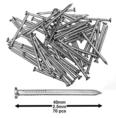 - Pack of 70 Hardened Ribbed Steel Masonry Nails 2.5x40mm (1x1