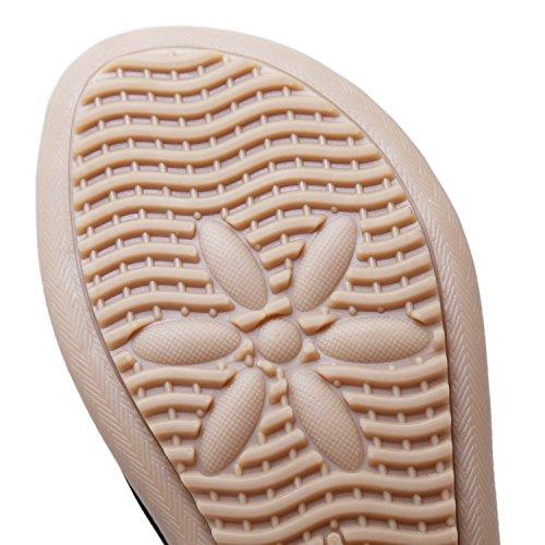 Boemia Strass Spiaggia Sandali Estate Piatti CARETOO Scarpe Pantofole Piatto Punta Nero Perline Donna della Infradito Clip qn04pw