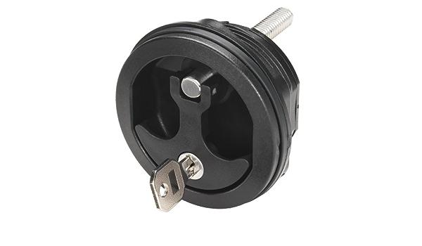 Compression Latch * Whitecap Lift Handle Black Chrome Locking S-1415-BC