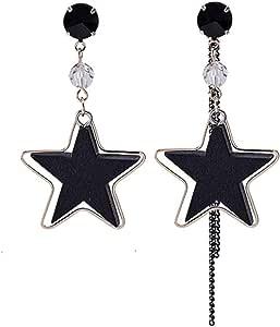 Pendientes Pendientes de borla de estrella de madera de super hada Exquisita moda Pendientes de temperamento clásico Popular Exquisito Fas