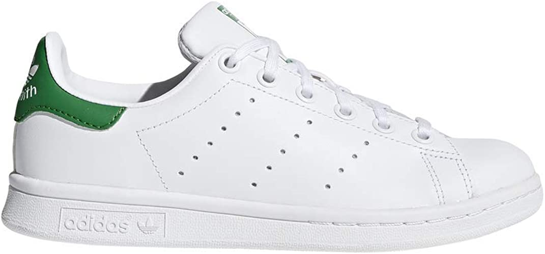 adidas Stan Smith White Green Youths Trainers Size 6.5 UK