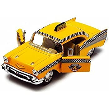 Amazon 1957 Chevy Bel Air Taxi Cab Yellow Kinsmart 5360d 1