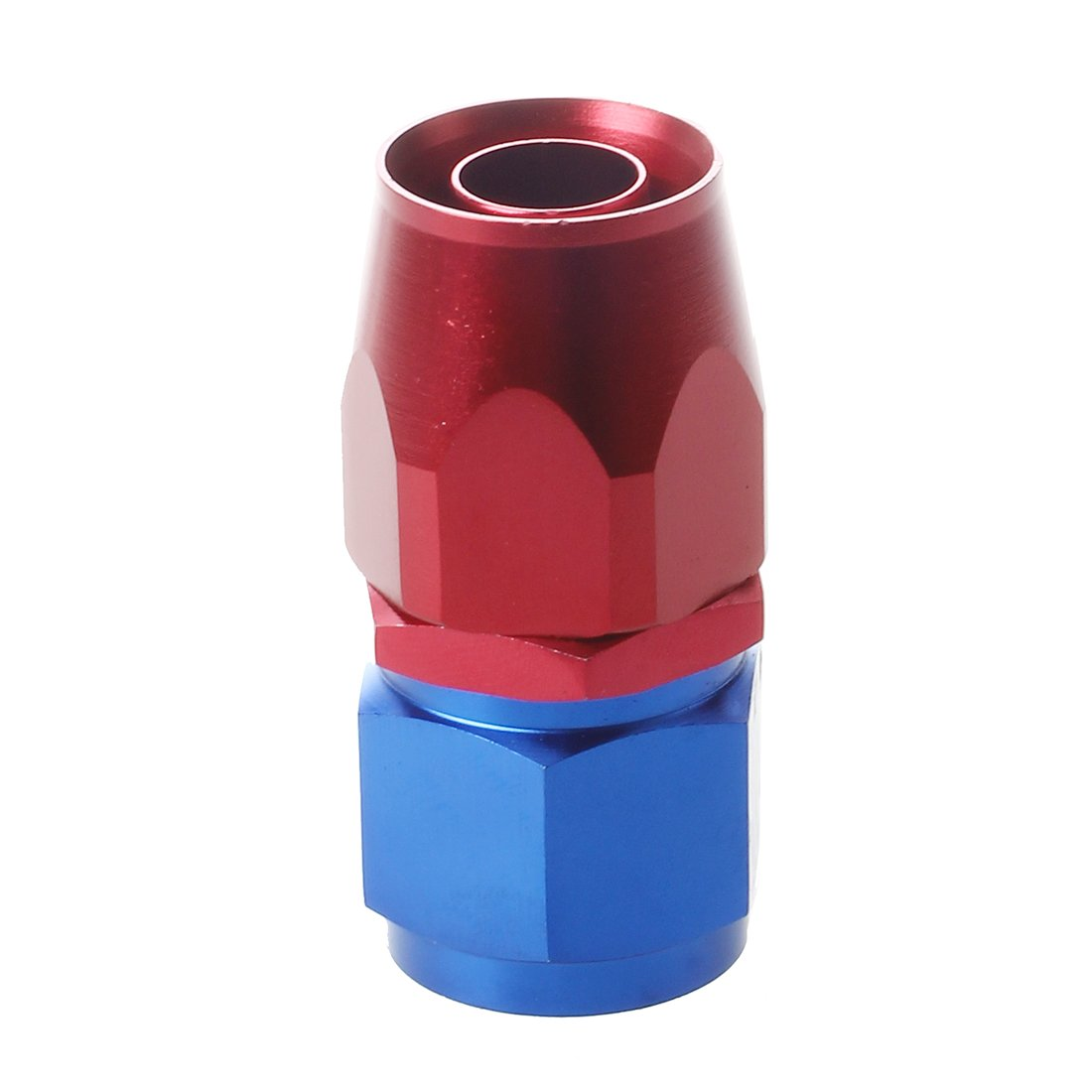 TOOGOO(R)AN10 Recto Giratorio Aceite Combustible Manguera Final Apropiado Adaptador Aluminio Rojo y Azul TOOGOO (R) 053169