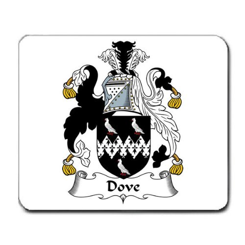 Dove Family Crest Coat of Arms Mouse Pad
