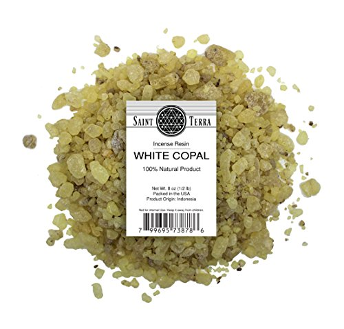 Saint Terra - White Copal Incense Resin 8 oz (1/2 lb) - 100% Natural
