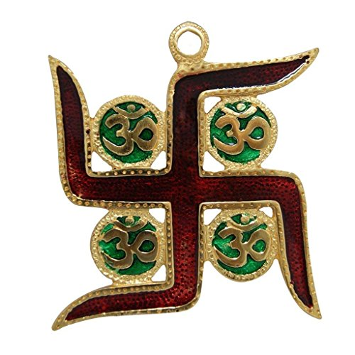 Divya Mantra Om Swastik Wall Hanging for Good Luck and Fortune Others Multicolour