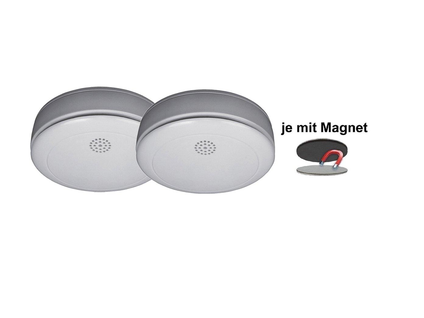 Smartwares 2er Set de humo, incluye 2 x soporte magnético, con{10} batería de litio, RM218: Amazon.es: Bricolaje y herramientas