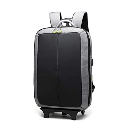 100c711a7279 Amazon.com : IF.HLMF Trolley Backpack Luggage Travel Rolling ...