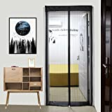 Magnetic Screen Door - with Heavy Duty Mesh Door Screen Curtain and Full Frame Magic Screen Door (Fits Doors up to 36 x 82-inch) Keep Mosquito Fly Bugs Out