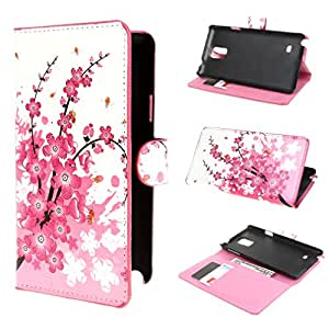 TUTUWEN 37 Flower Magnetic Wallet Style PU Leather Stand Case Cover for Samsung Galaxy Note 4