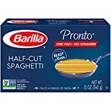 Barilla Pronto Pasta, Half-Cut Spaghetti, 12 Ounce (Pack of 16)