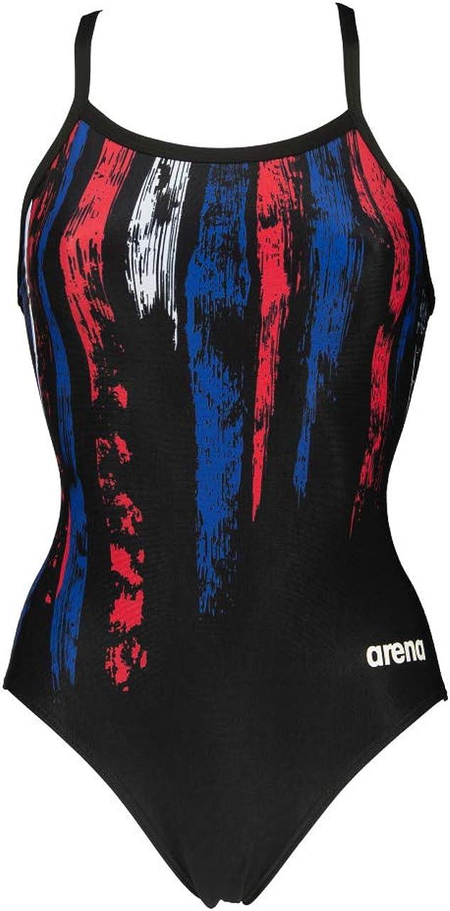 Arena Womens Multicolor Stripes Light Drop Back One Piece Swimsuit