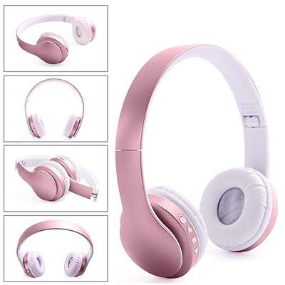 Oreillette Bluetooth Headset sans Fil 4,1 Carte Pliante Casque,Pink High-tech