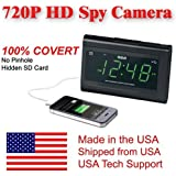 [100% COVERT] SecureGuard HD 720p USB Charger & Clock Radio Spy Camera Covert Hidden Nanny Camera Spy Gadget